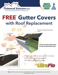 Free gutter covers with roof replacement