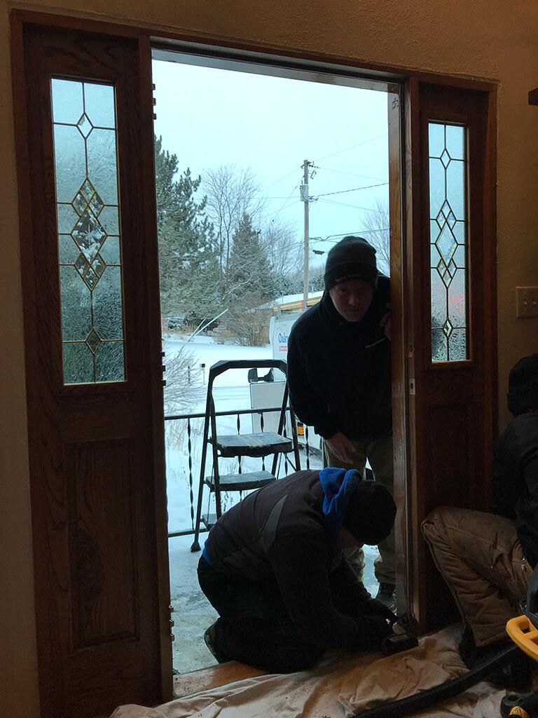 Waudena Millwork Entry Door Replacement Wausau Wi Oakwood Exteriors