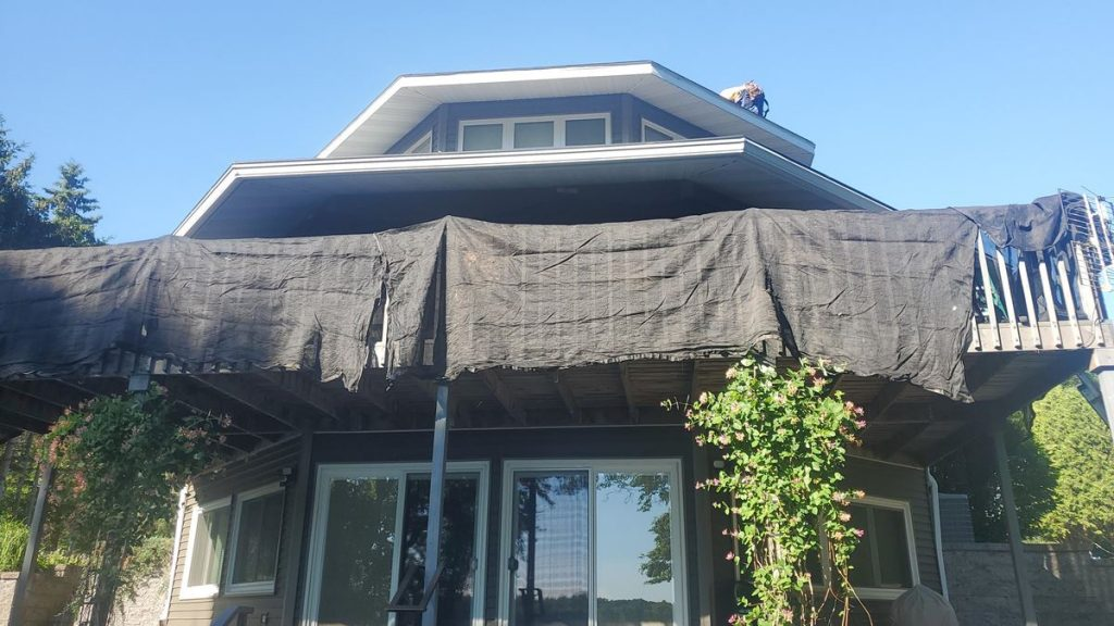 Catch-All Siding and Landscape Protection Nets