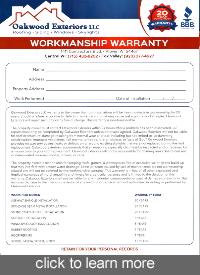 Workmanship Warranty