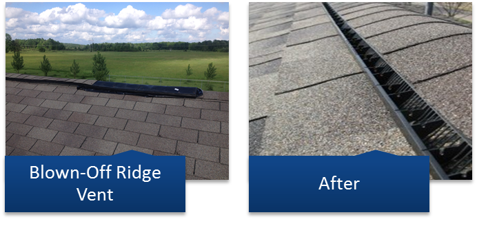 Roof Venting Problems : Roof repairs leaky repair in stevens point wi