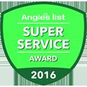 angieslist award, super service award